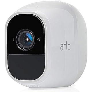 Arlo Pro 2 Smart Home Zusatz-Security-Überwachungkamera (Alexa kompatibel, 130 Grad Blickwinkel, Nachtsicht, Wetterfest, 2-Wege Audio) weiß, VMC4030P-100EUS