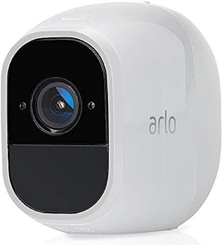 Arlo Pro 2 Smart Home Zusatz-Security-Überwachungskamera (Funktioniert mit Alexa, 130 Grad Blickwinkel, kabellos, WLAN, Indoor/Outdoor, Nachtsicht, wetterfest, 2-Wege Audio) weiß, VMC4030P -