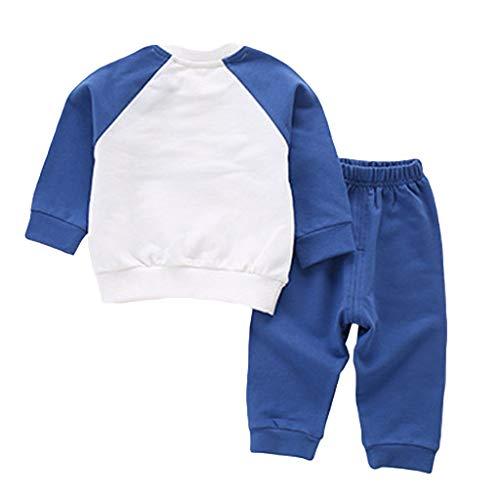 Abbigliamento Bimba 0-3 Anni Set di Abiti Sportivi Bambino Bambino Bambino Ragazze Manica Lunga Pullover Abbigliamento Sportivo Pigiama Giacca Bambino Inv