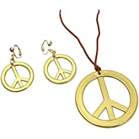 My Other Me Me - Colgante y pendientes hippies, talla única (Viving Costumes MOM01456)