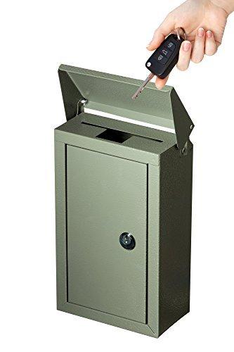 Outdoor Groß Schlüssel Auswahlfeld verzinktem Stahl Wandhalterung pulverbeschichtet Schlüsselanhänger Lock Box von Arbeit Affinity grau