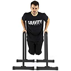 Gravity Fitness Parallettes, Dip Bars - XL - Nouvelles poignées de 38 mm - Barres d'immersion pour la callisthénie, le crossfit, la maison et l'utilisation commerciale