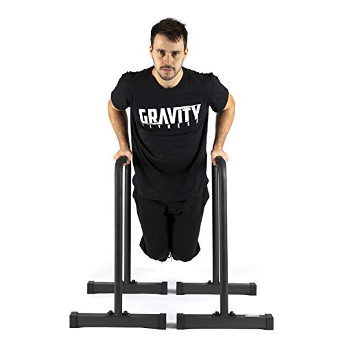 Gravity Fitness Parallettes, Dip Bars - XL - Neue 38-mm-Griffe - Dip-Bars für Calisthenics, Crossfit, Privater Gebrauch - Maximale Fitness-bar