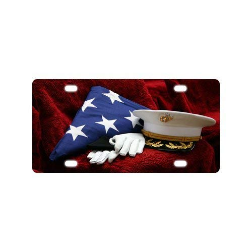 BNHF USMC United States Marine Corps Marines Semper Fi Metal License Plate Frame (New) 12