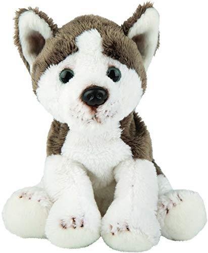 Suki Gifts 12140 Naturgetreuer Siberischer Husky Hund Kuscheltier, mehrfarbig