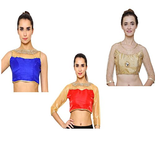 RZLECORT PARTY WEAR & CASUAL BLOUSE FOR WOMEN & GIRLS (PACK OF-3)
