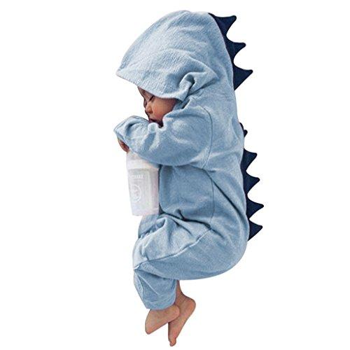 beiguoxia Cute Baby Jungen Mädchen Dinosaurier Kostüm Neugeborenes Kind Jumpsuit Romper (Cute Jungen Baby Kostüme Halloween)