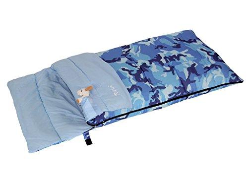 Bertoni Bimbo Junior 150 Camuflaje Azul Saco de Dormir Infantil para Acampada o Casa, Camuflaje Azul, Tamaño Único
