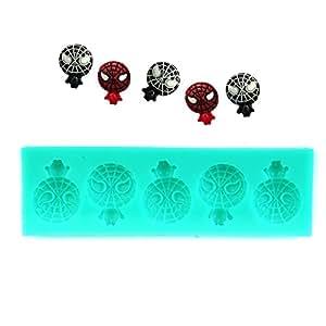 Spiderman halloween moule à tarte emporte-pièce 3D en silicone pour décorations en pâte d'amande en forme de fleur pour gâteaux