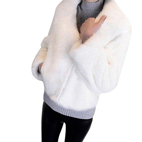 Mantel Damen Warm Faux Pelz Fox Jacke Parka Outerwear Von Xinan (XXL, (Kostüme Pelz)