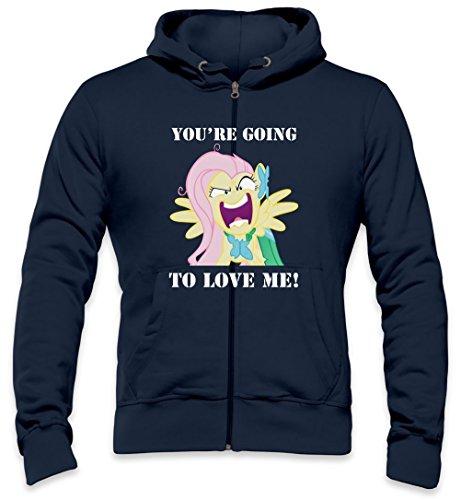 You're Going To Love Me Fluttershy Mens Zipper Hoodie Medium