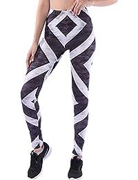 Legging de Sport Femme Push Up Fesse Sexy Skinny Fitness Pantalon Moulant  Taille Haute Imprimé Calzedonia Legging… 5df07551f02b