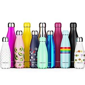 Proworks Edelstahl Trinkflasche 24 Std. Kalt und 12 Std. Heiß – Premium Vakuum Wasserflasche – Perfekte Isolierflasche…
