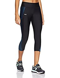 Under Armour Women's Fly By Capri-blacktrue Ink,medium