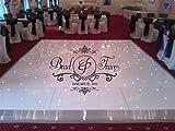 stickers muraux chambre Réception Fête Damask Thème Stickers Piste De Danse Autocollants Jour De Mariage Décoration Personnalisé Mariée Marié Noms pour mariage...