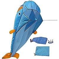 3D Dolphin Kite con manija Línea Stunt Parachute Soft Parafoil Surfing Kite Deporte Kite Enorme Actividad