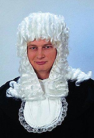 Perücke: Richter-Perücke, weiß