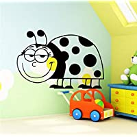 Cute Ladybird Cockchafer Wall Sticker for Kids Room Home Decoration Accessories Vinyl Lovely Animal Wall Stickers Wallpaper 85 * 68cm