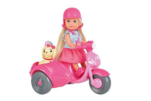 Simba 105736584 - Evi Love Puppe mit Hund und Roller