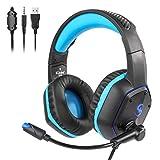 CAOQAO Kubite K15 PS4 Filaire ÉCouteur Casque Casque Gaming avec Micro Headphone...