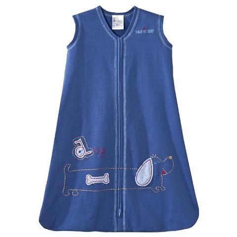 Halo Sleepsack Wearable Couverture en coton (0–6mois, petit, bleu foncé avec chien)