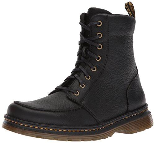 Dr. Martens Herren Lombardo Combat Boots, Schwarz (Black 001), 46 EU Dr Martens Moc Toe