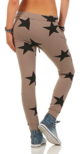 Mr. Shine Damen Sweatpants Baggy Hose Boyfriendhose Freizeithose Jogginghose Fitness Sporthose Yogapants Jogger Loose Fit Big Star S-XXXL Cappuccino