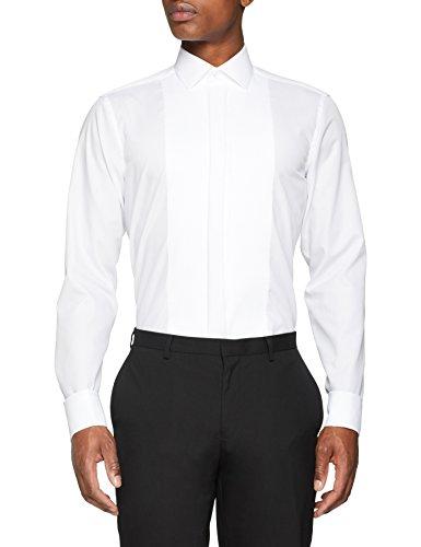 Seidensticker modern langarm mit kent-kragen umschlagmanschette bügelfrei, camicia da cerimonia uomo, bianco (weiß 1), small (taglia produttore: 38)
