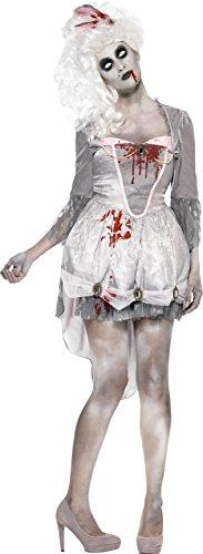 Smiffys, Damen Zombie im 18.Jahrhundert Kostüm, Kleid, Strumpfband und Haarschmuck, Größe: S, 61102