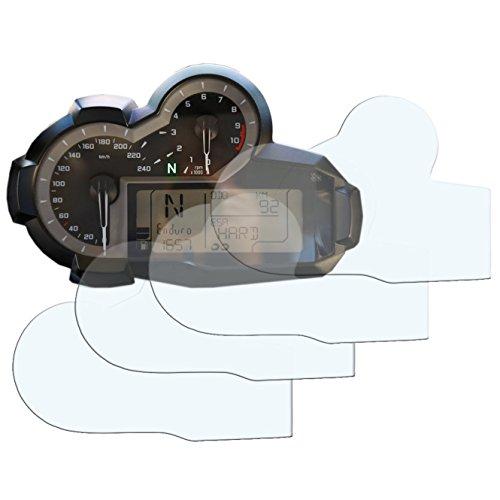 Preisvergleich Produktbild BMW R1200GS 2013> Displayschutzfolie Tachoschutzfolie Screen Protector: 2 x Ultra Klar & 2 x Entspiegelt