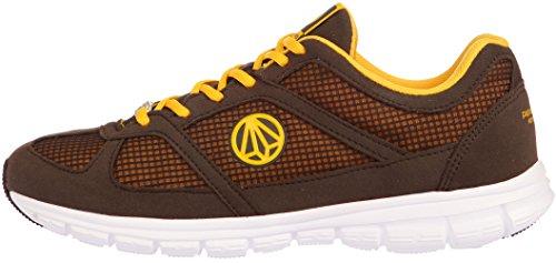 Paperplanes - 1201 unisexe légère en maille Motif Baskets de marche Marron - 1203-Brown Yellow