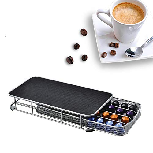 Coffee Pods Holder - Mesh Drawer Single Serve Coffee Pod Lagerung, Hitzebeständig für 40 Coffee...
