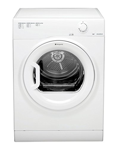 The Hotpoint TVFM 70B GP (UK) Freestanding Vented Tumble Dryer comes in a classic white finish to complement any setting and features a 7kg drum capacity to accommodate even large households. With our Anti-Tangling technology