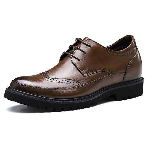 CHAMARIPA Formale Höhe Zunehmende Schuhe Für Männer, 7 cm Braun Große Männer Schuhe High Heel Männer Kleid Schuhe -H92241D061D