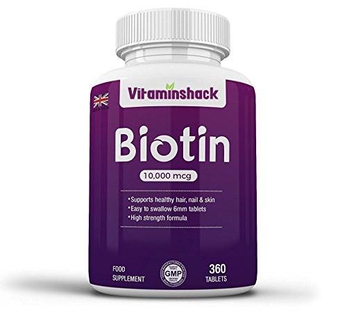 Biotin 360 Tablets - 10000mcg Hair Growth Tablets