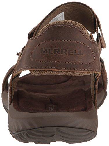Merrell Terrant Strap, Sandales Bout Ouvert Homme Marron (Dark Earth)