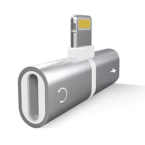 tning Splitter Adapter für iPhone X/8/7. Double Lightning Anschlüsse für Dual Lightning Kopfhörer Audio & Charge Adapter. Kompatibel Music Control, Ladefunktion gleichzeitig. ()