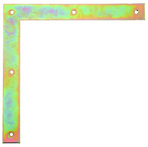 GAH-Alberts 313043 Tor-Winkel, galvanisch gelb verzinkt, 250 x 250 x 30 mm