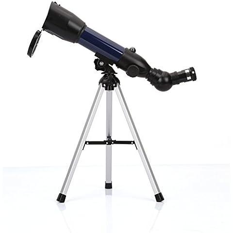 Geertop AZ Telescopio refractor astronómico 360X50 mm con trípode de mesa y brújula, para niños. Observar el cielo y observar pájaros