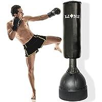 Lions - Saco para boxeo y artes marciales con base (envío gratuito, 1,67 m de altura)