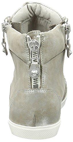 Kennel und Schmenger SchuhmanufakturQueens - Scarpe da Ginnastica Basse Donna Mehrfarbig (taupe-silver/silver Sohle Weiss)
