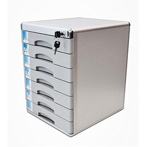 Armoires de classement Liuyu · Maison de Vie Dossier de Bureau de Bureau avec Serrure A4 Boîte de Rangement Tiroir Bureau Accueil 7 Couches en Alliage d'aluminium