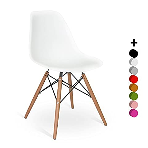 Chaise DSW Style - Blanc - Inspiration Charles&Ray Eames -