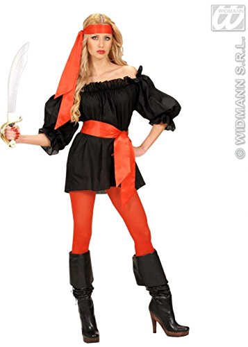 Rote Satin Pirate Fancy Dress Taille Schärpe