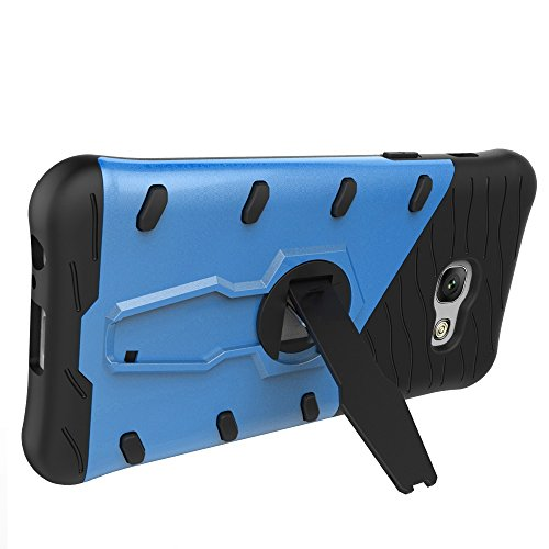 Für Samsung Galaxy A3 2017 Case Tough Hybrid Heavy Duty Shock Proof Defender Cover Dual Layer Armor Combo Mit 360 ° Swivel Stand Schutzhülle Fall ( Color : Black ) Blue