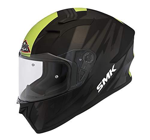 SMK Helmets Men's MK MA264 Trek Graphics Pinlock Fitted Full Face Helmet with Clear Visor (Large)