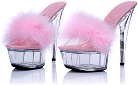 Zapatillas Para Mujer Transparente Fondo Grueso Plataforma Impermeable Sandalias de Tacón Alto Finas con Sandalias...