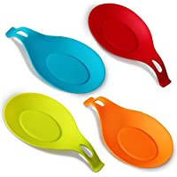 Annstory Spoon Rests, Kitchen Silicone Spoon Holders, Set of 4, Colourful by Annstory