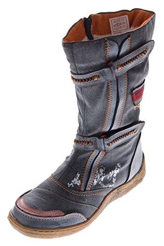 Damen Leder Winter Stiefel Comfort Boots TMA 14411 Schuhe Schwarz gefüttert  Gr. 40 9ed6d65fa1