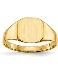 9c39fc85f24f DIAMOND2DEAL INC Anillo de Oro Amarillo de 14 Quilates para Hombre con  Sello sólido